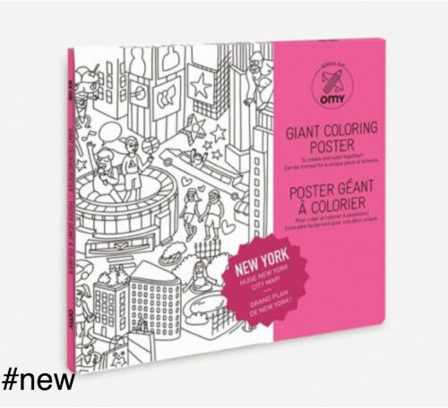 new york coloring poster omy