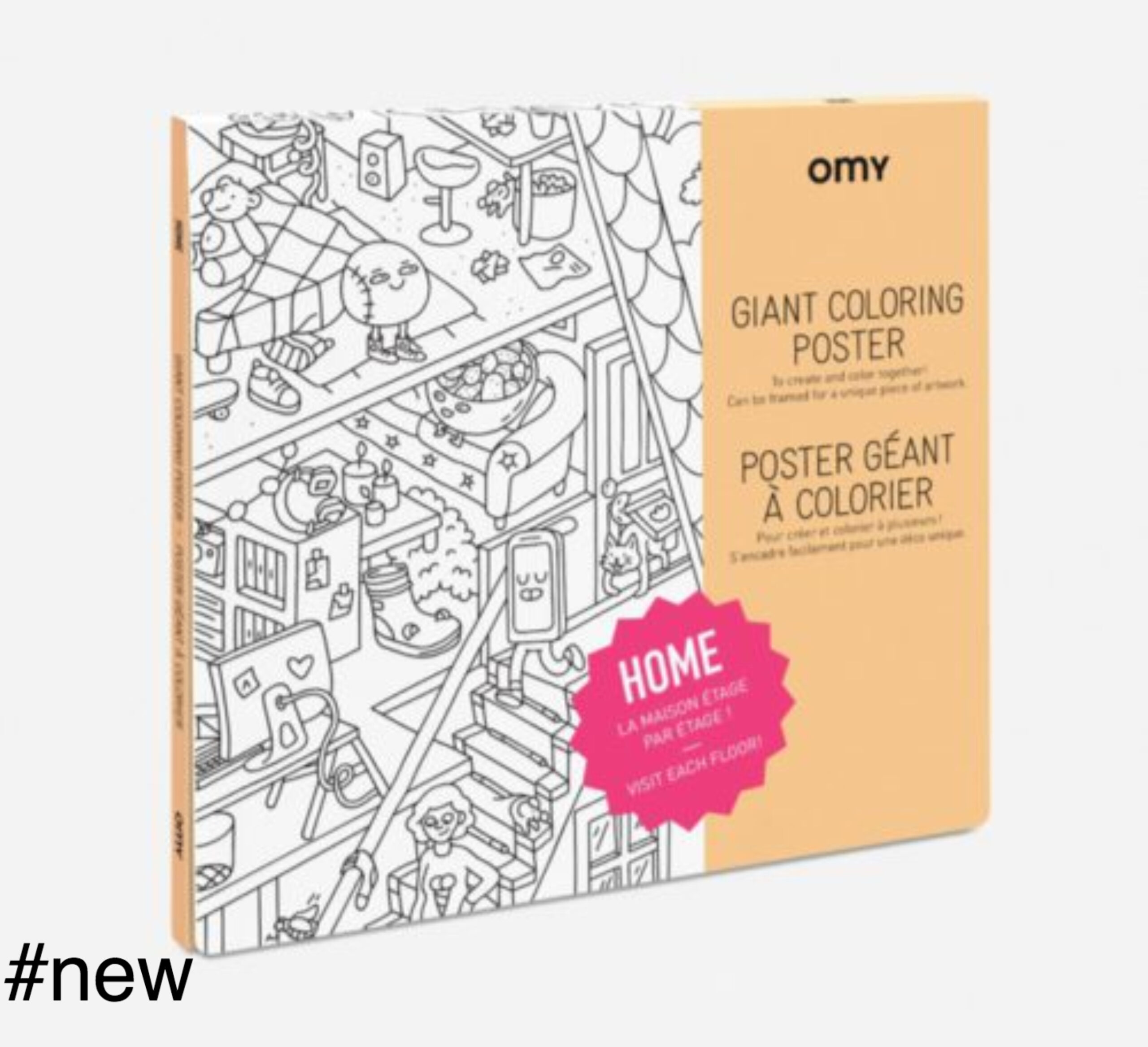 home coloring poster omy