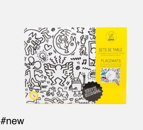 keith haring placemats omy