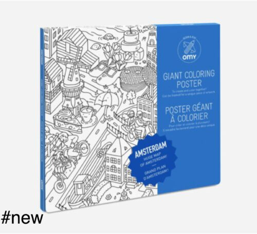 amsterdam coloring poster omy