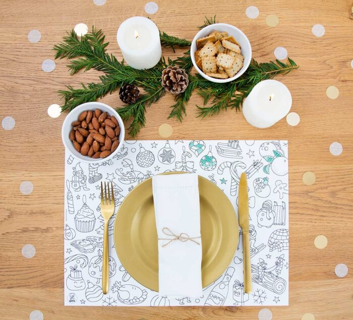 OMY Christmas - 24 Coloring Paper Placemats