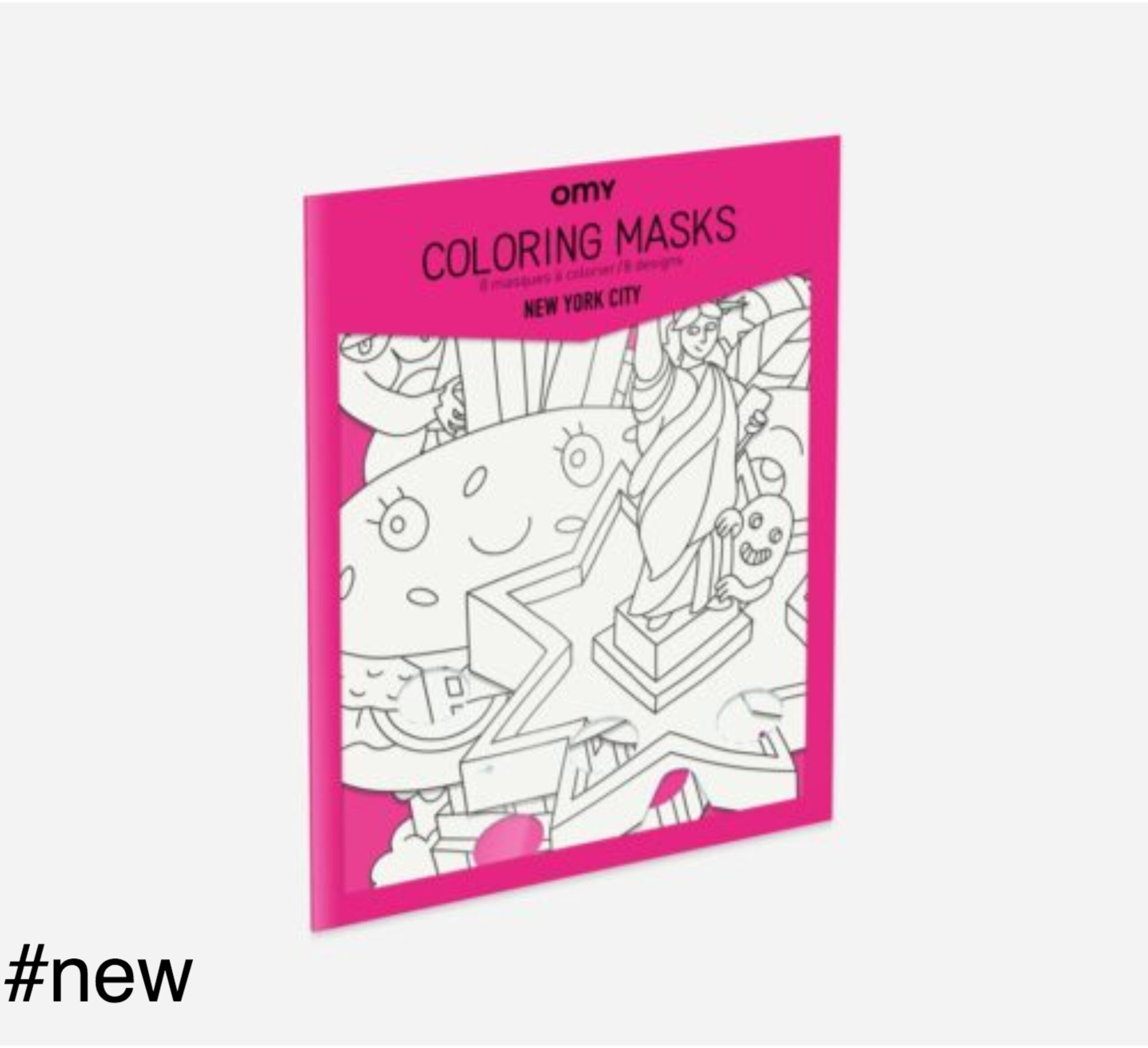 new york city omy coloring masks