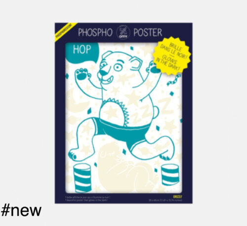 grizzly bear omy phospho poster glowing coloring