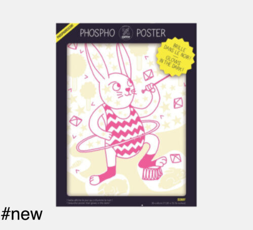 rabbit phospho glowing omy poster