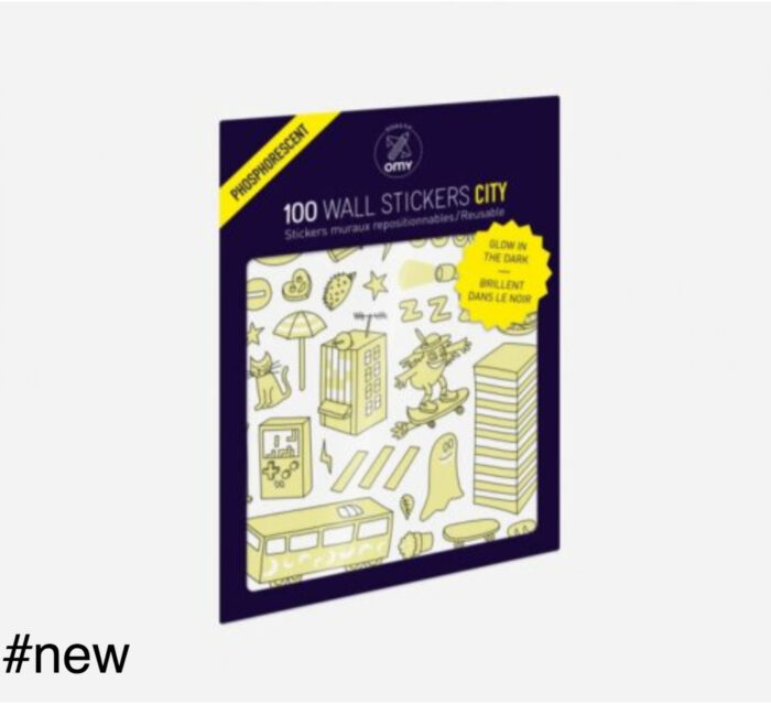phospho city glowing stickers 100