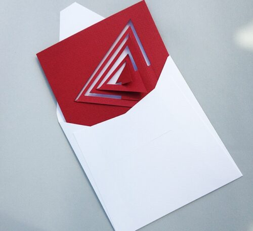 6 Bauhaus Triangle Blue Cards