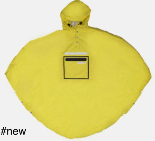 yellow poncho raincoat people's
