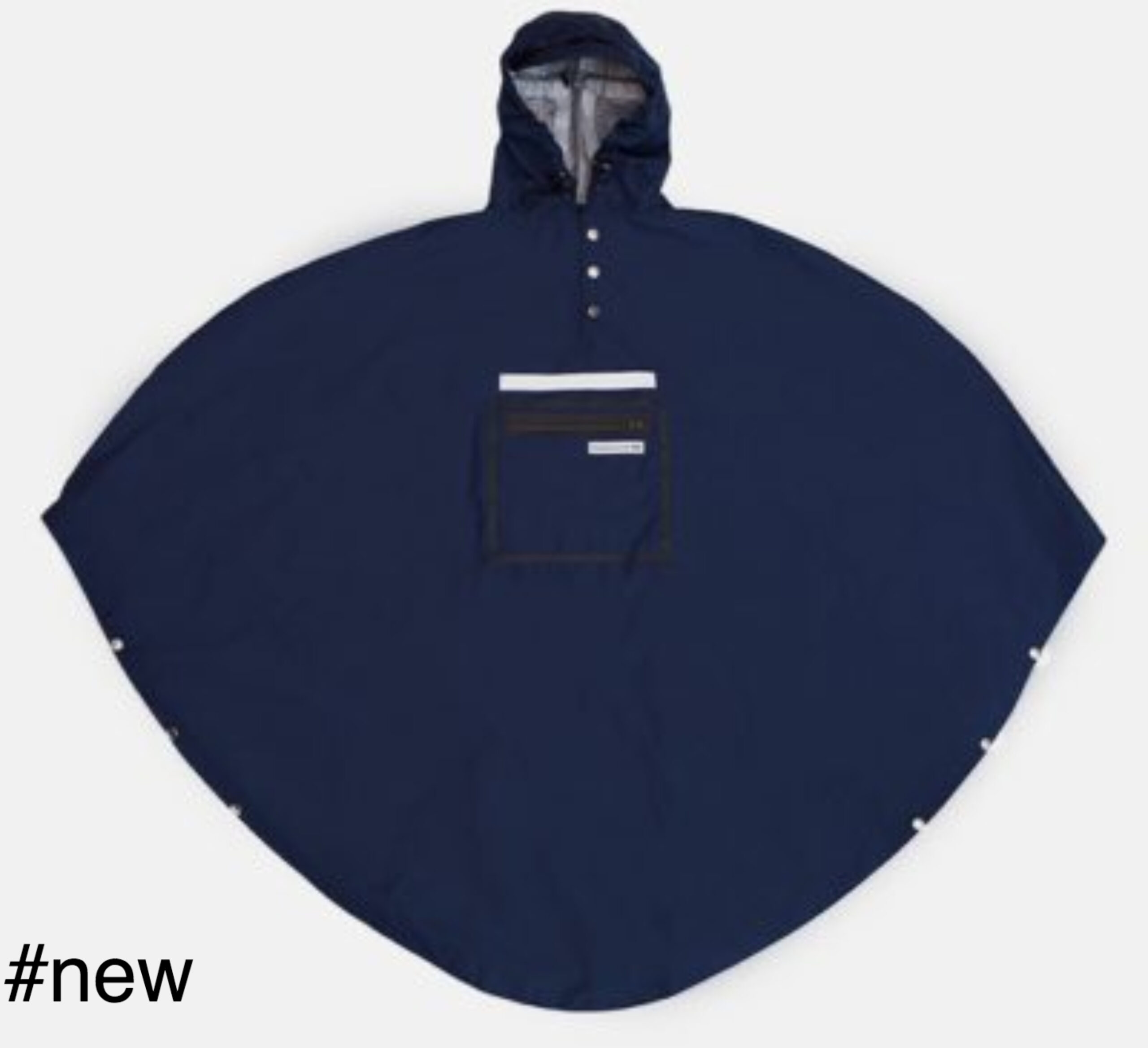 blue poncho raincoat