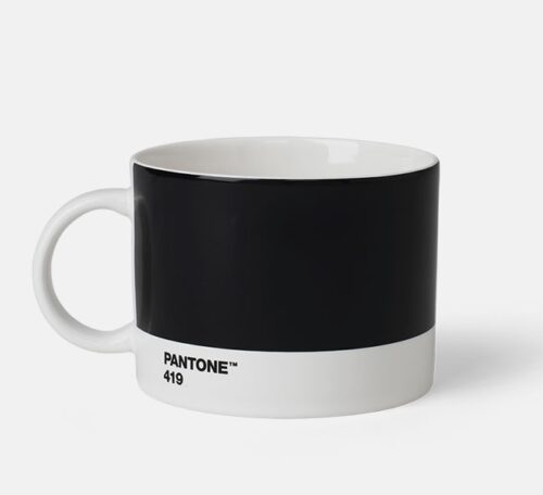 large tea cup pantone black