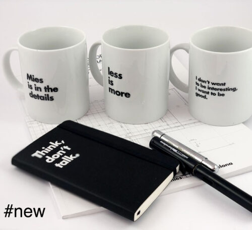 mies van der rohe quotes mugs pack