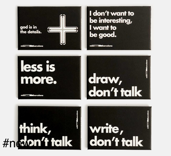 mies van der rohe quotes fridge magnets pack