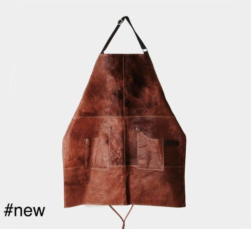 rivsalt leather kitchen apron cooking