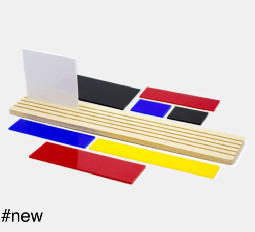 shapes of mondrian diorama toy