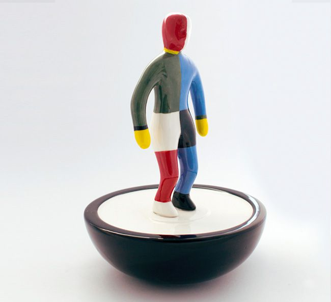 30 cm Ceramic Sportsman figure model #1