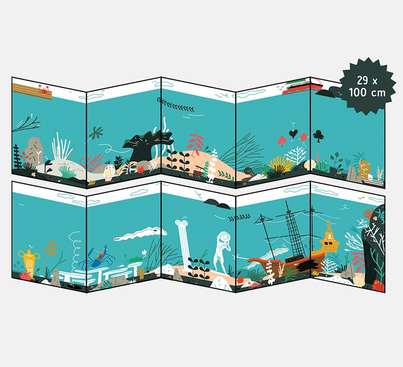 Giant colouring poster - water