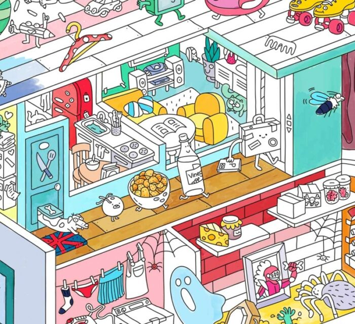 Home - Colouring Poster