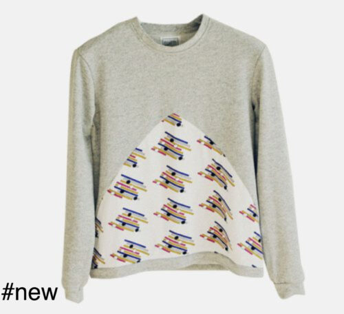 triangles cotton sweater