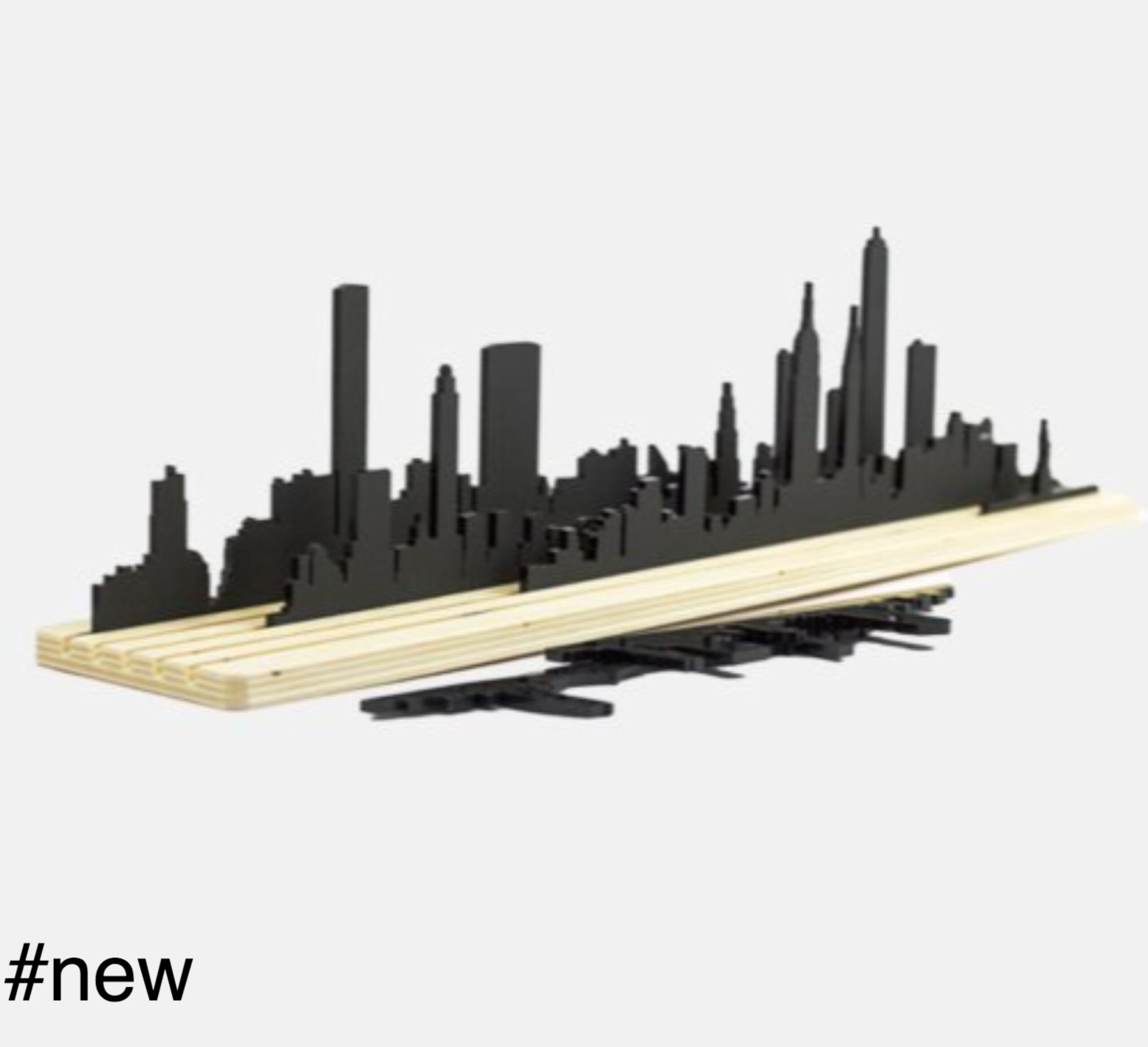 new york skyline diorama silhouette