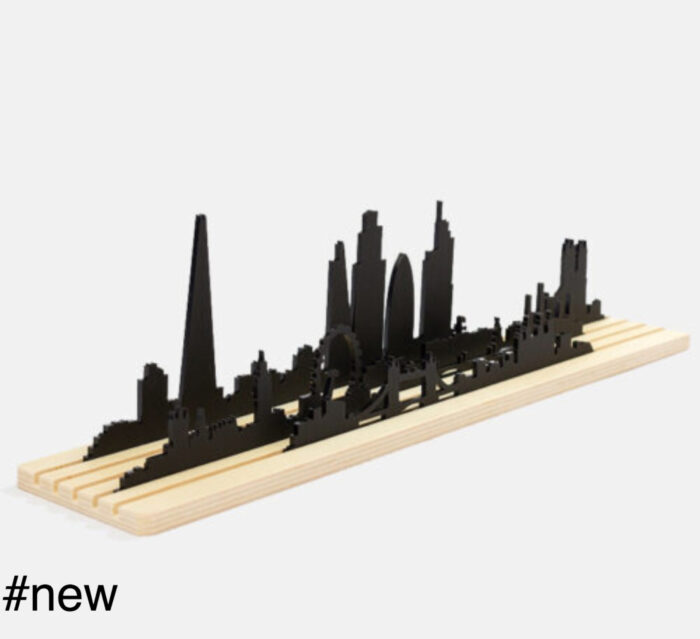 shapes of london diorama silhouette