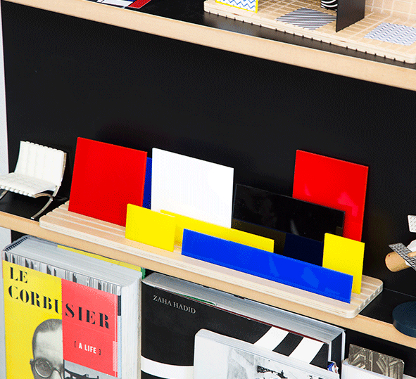 BEAMALEVICH Shapes of Mondrian - Movable diorama puzzle