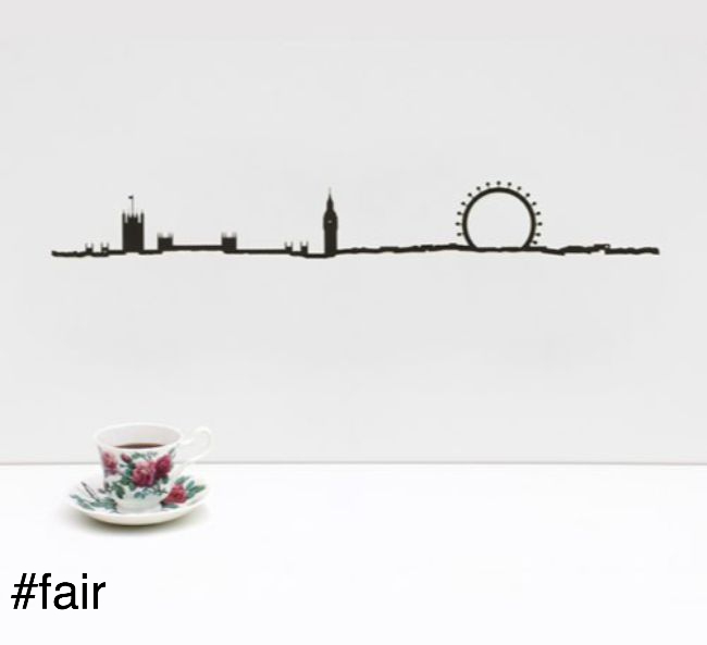 london city silhouette metal the line france