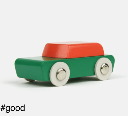 compact duotone toy car