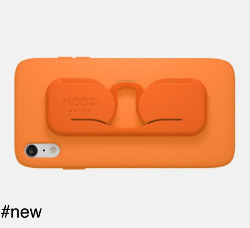nooz optics smartphone case eyeglasses orange