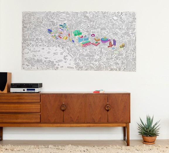 OMY Los Angeles city Coloring Poster - XXL