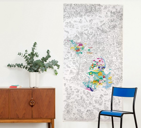 OMY France Coloring Poster - XXL