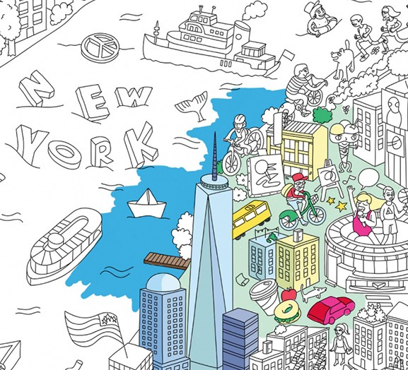 OMY New York City - City Coloring Poster
