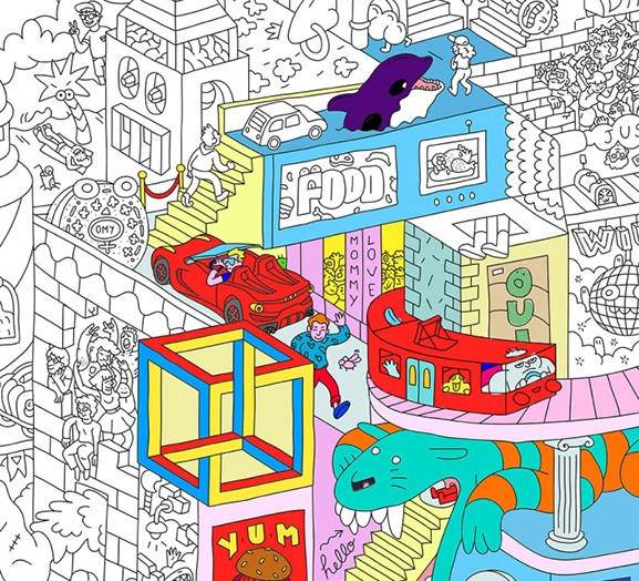 OMY Party - Coloring Poster