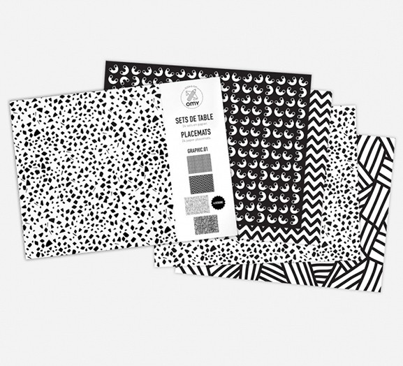OMY Graphik 01 - 24 Coloring Paper Placemats
