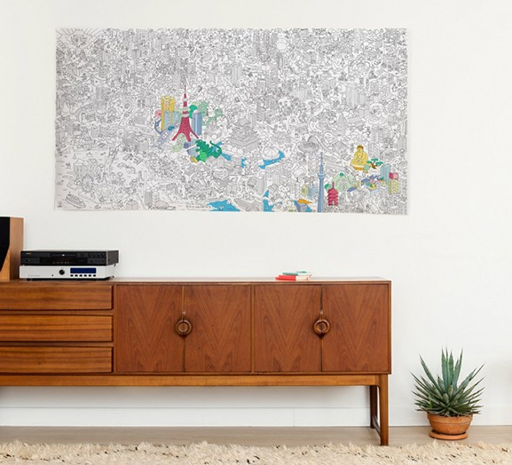 OMY Tokyo city Coloring Poster - XXL