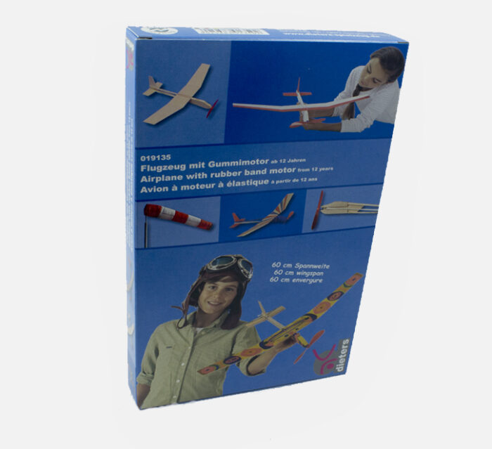 DIETERS SPIELZEUG DIY Airplane with a rubber band motor - Beginner kit