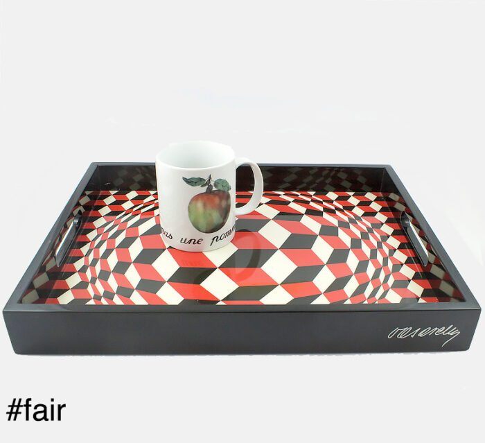 ARTEUM Victor Vasarely Cheyt (1975) lacquer tray - Premium limited edition