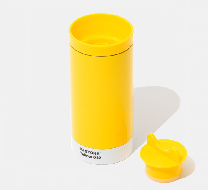 PANTONE Steel To Go Thermo cup with cover - Yellow 012