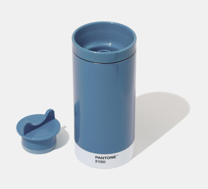 PANTONE Steel To Go cup with cover – Blue 2150