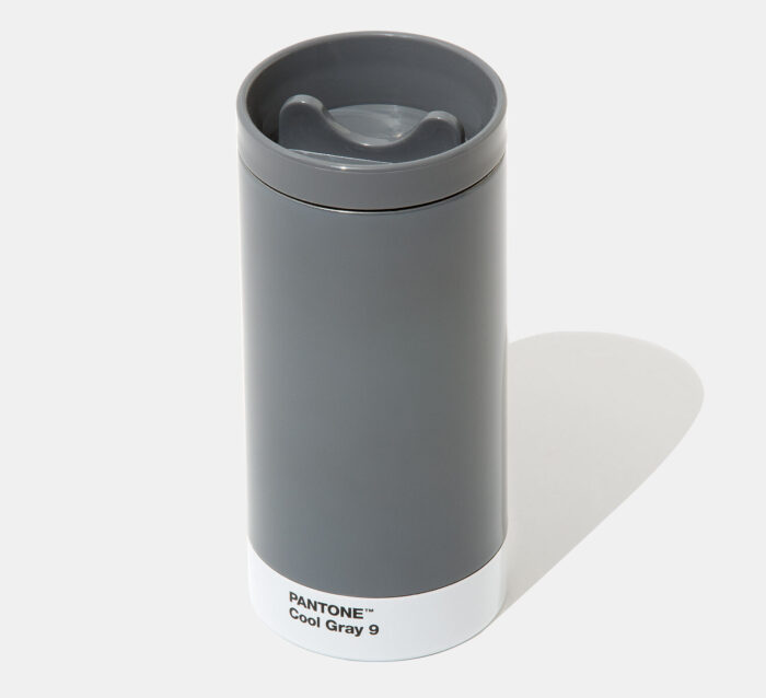 PANTONE Steel To Go Cup thermo with cover – Cool Gray 9