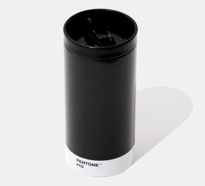 PANTONE Steel To Go Cup thermo with cover - Black 419