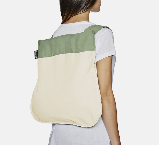 Convertible Tote bag & backpack – Olive Raw