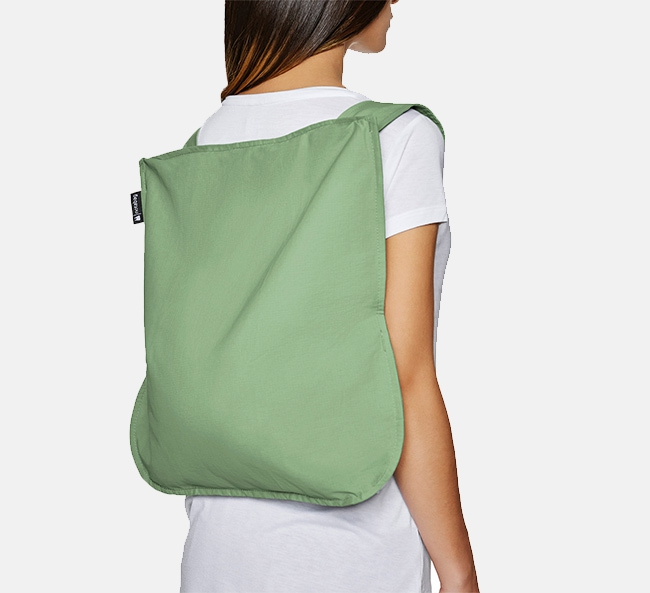Convertible Tote bag & backpack – Nature Olive Green