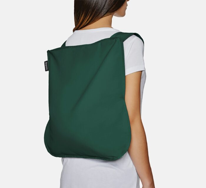 NOTABAG Convertible Tote Bag & Backpack – Forest Green
