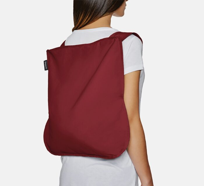 NOTABAG Convertible Tote Bag & Backpack – Wine Red
