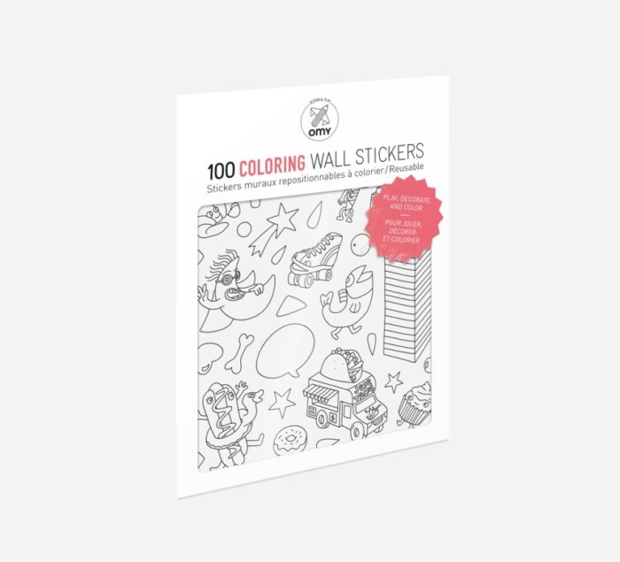 OMY Coloring - 100 Repositionable Stickers
