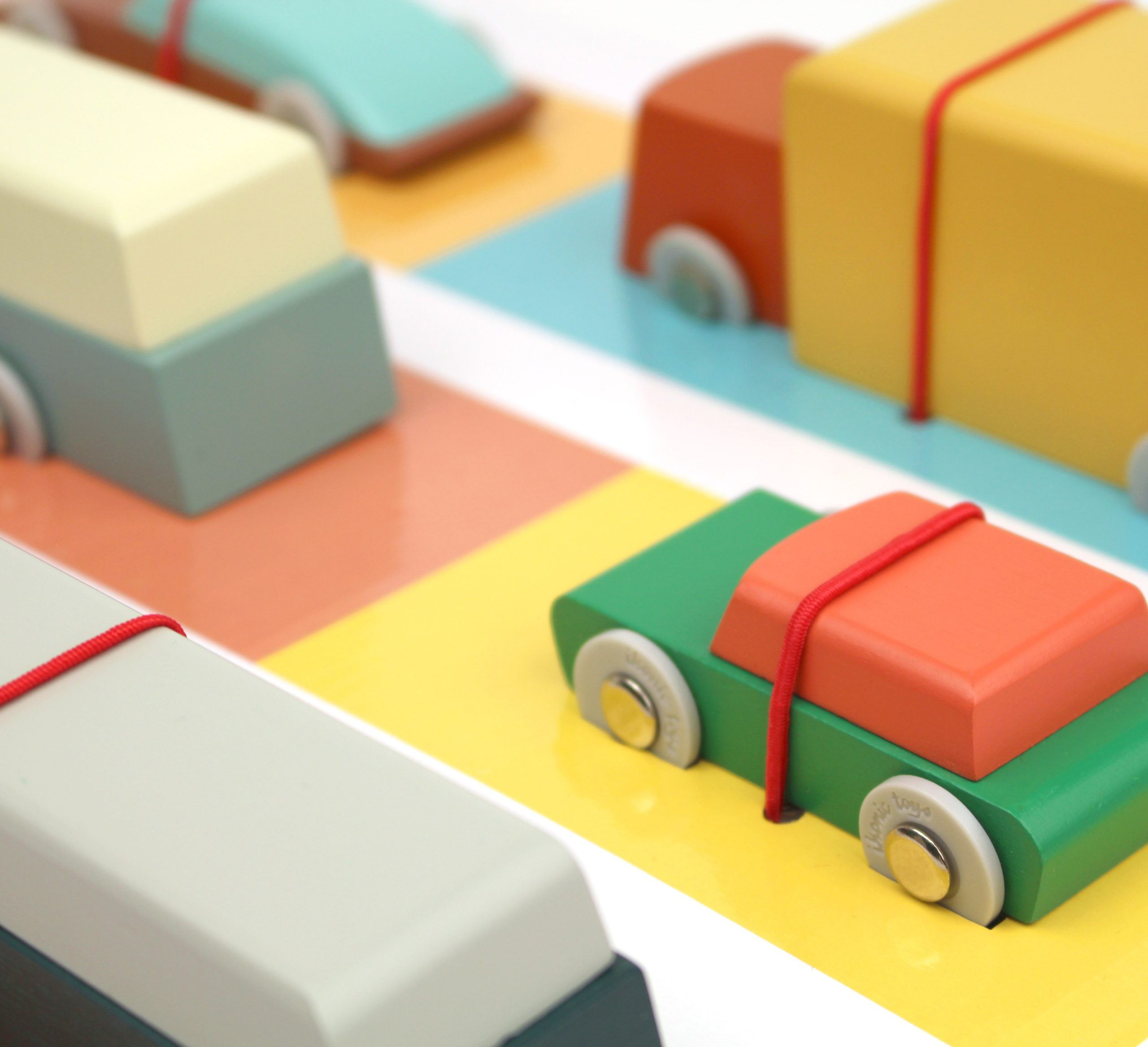 Premium Car Collection - 6 wooden toy vehicles