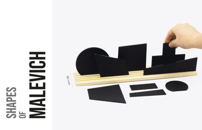 Shapes of Malevich - Movable diorama puzzle