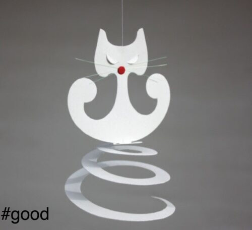 spiralcat livingly white cat mobile