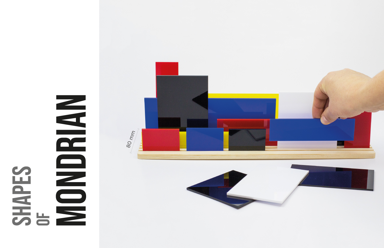 Shapes of Mondrian - Movable diorama puzzle