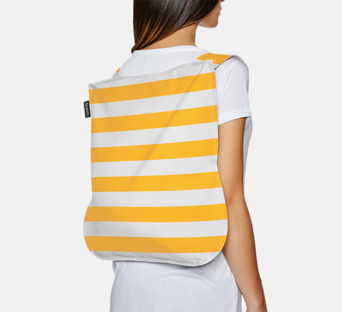 Convertible Tote bag & backpack - Golden Stripes
