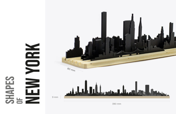Shapes of New York skyline - Movable city diorama